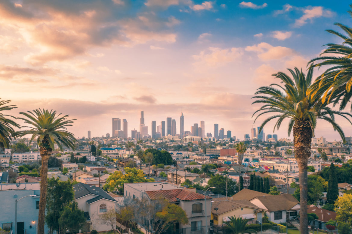 A shot of the city of Los Angeles